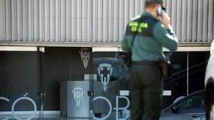 Las oficinas del Nuevo Arcángel, intervenidas por la Guardia Civil.