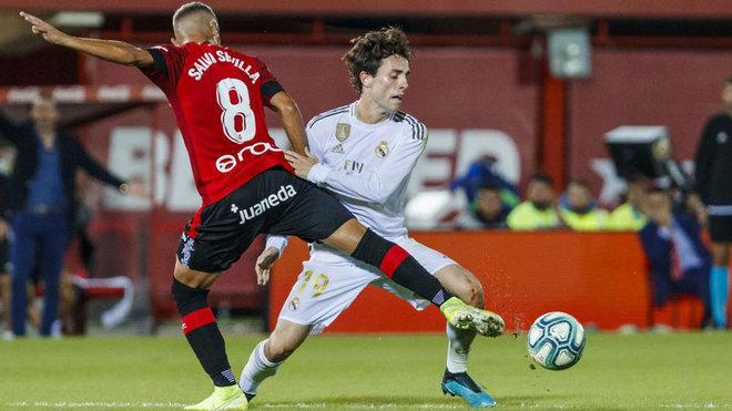 Odriozola in his last appearance against Mallorca