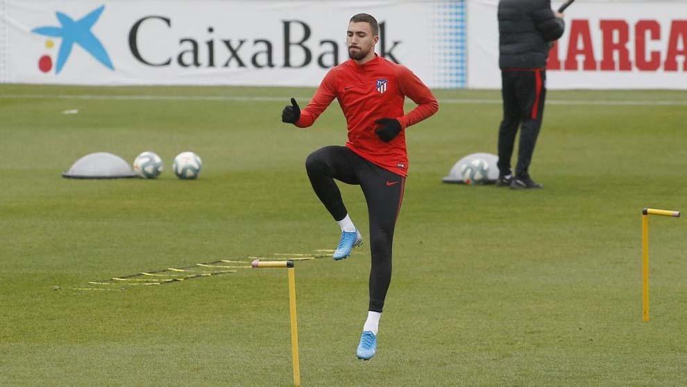 Darío Poveda durante un entrenamiento