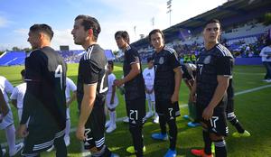 La selección mexicana sub 22 durante un duelo de preparación.