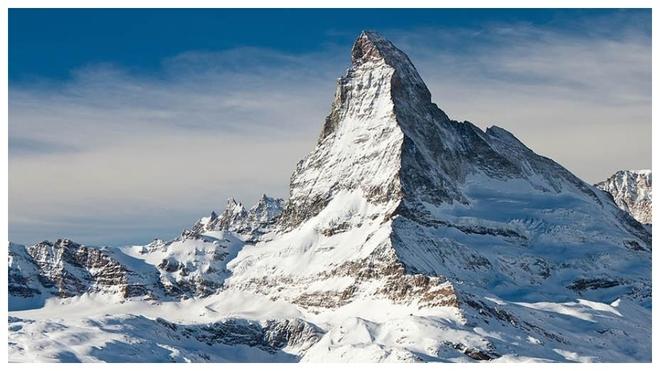 Imagen del Matterhorn, en la parte sur de Suiza.