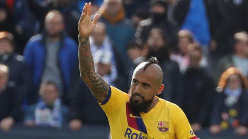 Arturo Vidal scored the winner at Butarque