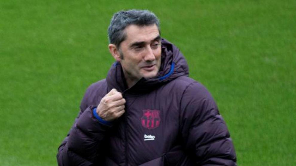 Valverde, durante un entrenamiento.