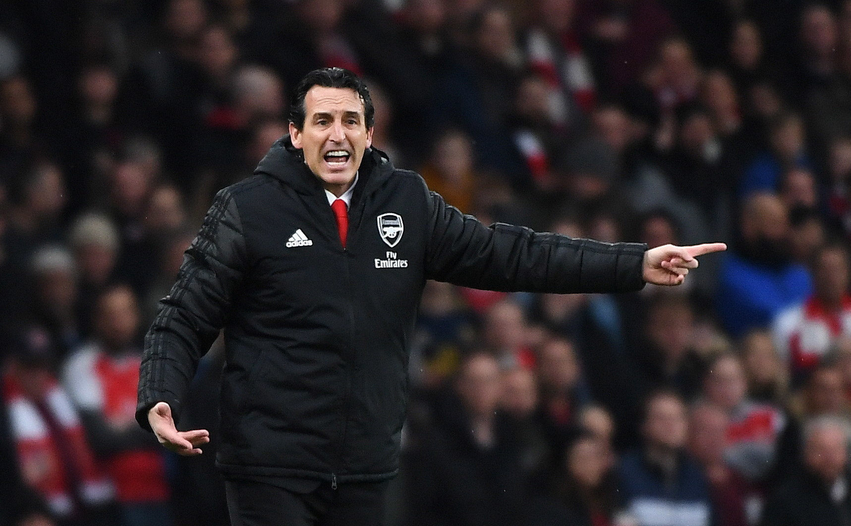 London (United Kingdom), 23/11/2019.- Arsenals manager Unai <HIT>Emery</HIT> reacts during the English Premier League soccer match between Arsenal and Southampton in London, Britain, 23 November 2019. (Reino Unido, Londres) EFE/EPA/ANDY RAIN EDITORIAL USE ONLY. No use with unauthorized audio, video, data, fixture lists, club/league logos or live services. Online in-match use limited to 120 images, no video emulation. No use in betting, games or single club/league/player publications