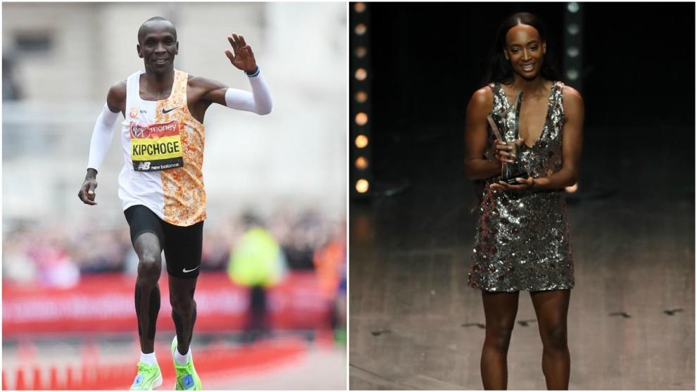 Kipchoge y Dalilah Muhammad, mejores atletas del año
