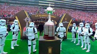 Los Stormtroopers aparecieron en la final de la Copa Libertadores.