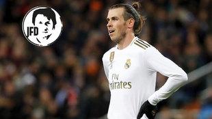 Gareth Bale, durante el partido ante la Real Sociedad