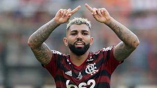 Gabigol acabó con nueve goles en la Libertadores.