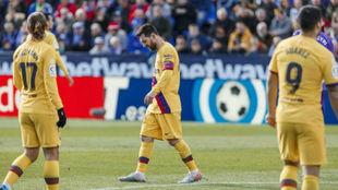 Griezmann, Messi y Suárez.