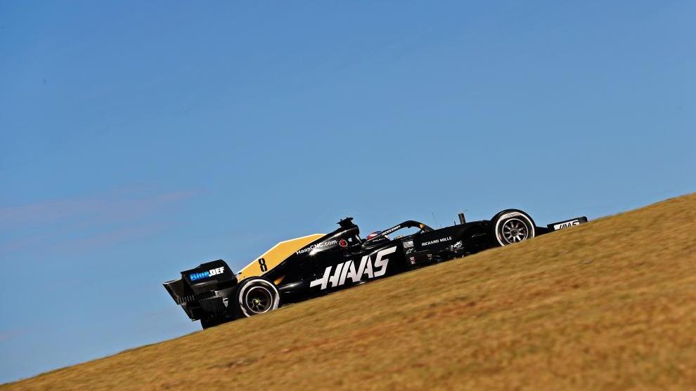 Romain Grosjean en el GP de Estados Unidos.
