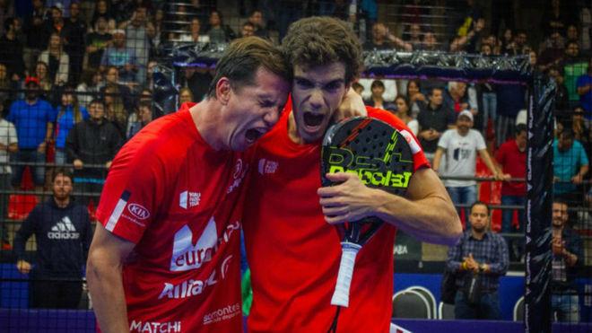 Paquito Navarro y Juan Lebrón celebran su victoria en la final de Sao...