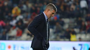 Martín Palermo dando instrucciones durante un partido del Pachuca.