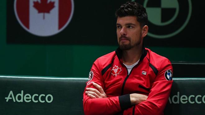 Frank Dancevic, capitán del equipo canadiense de Copa Davis, durante...