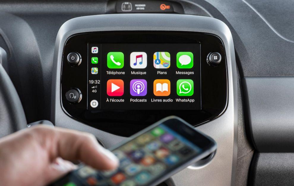El equipo multimedia del Toyota Aygo es compatible con Android Auto y Apple CarPlay.