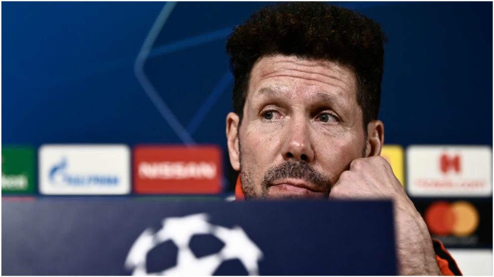 Simeone during his press conference