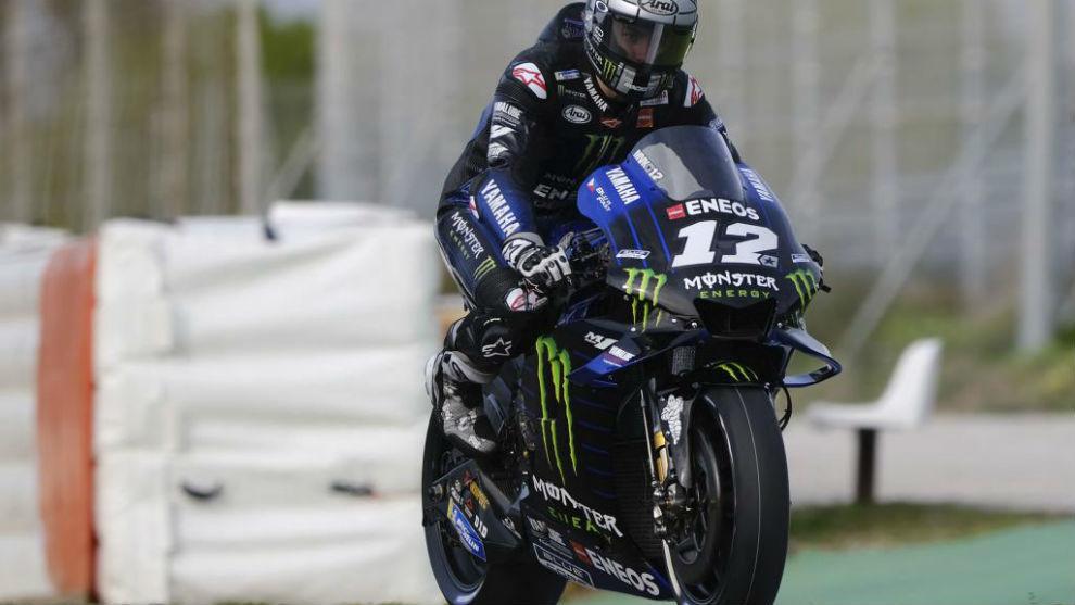 Maverick Viñales, en Jerez.