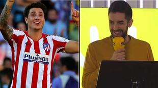 José María Giménez (Atlético de Madrid) y David Broncano (La Vida...
