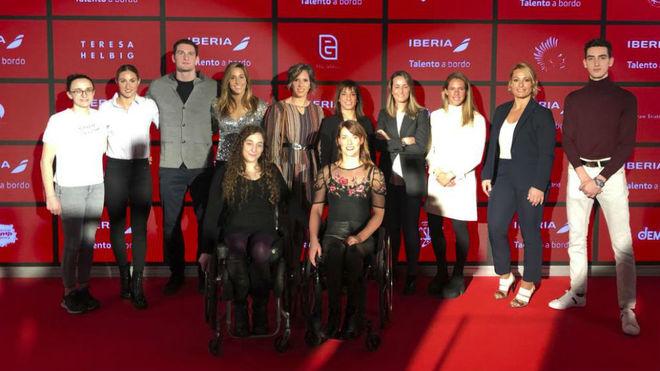 Olímpicos y paralímpicos en la presentación de 'Talento a bordo'.