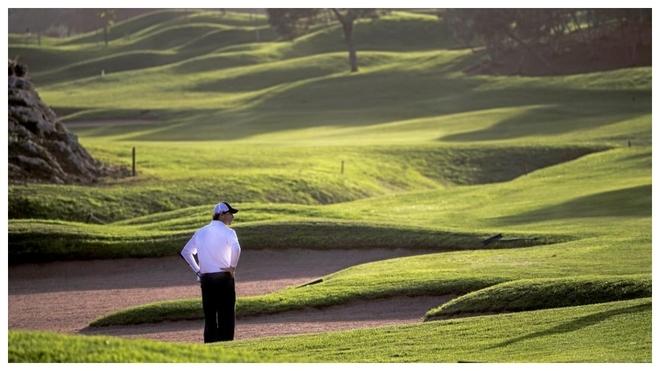 Imagen de Pula Golf, con Rafa Nadal, durante el Nadal Olazábal...