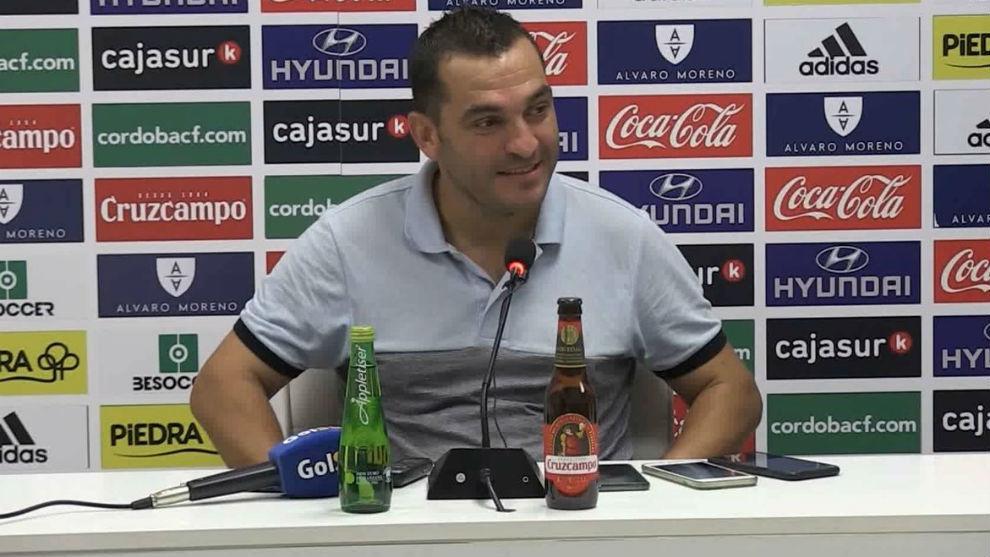 Adrián Hernández, en sala de prensa.