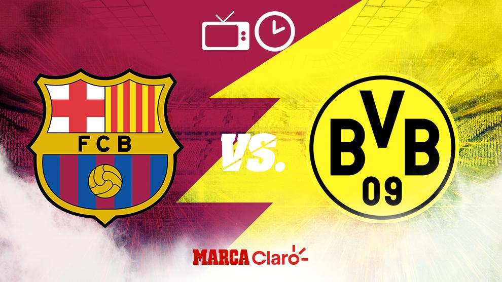 Champions League Barcelona Vs Borussia Dortmund Horario Y Donde Ver En Vivo Por Tv El Partido De La Jornada 5 De La Champions League Marca Claro Mexico