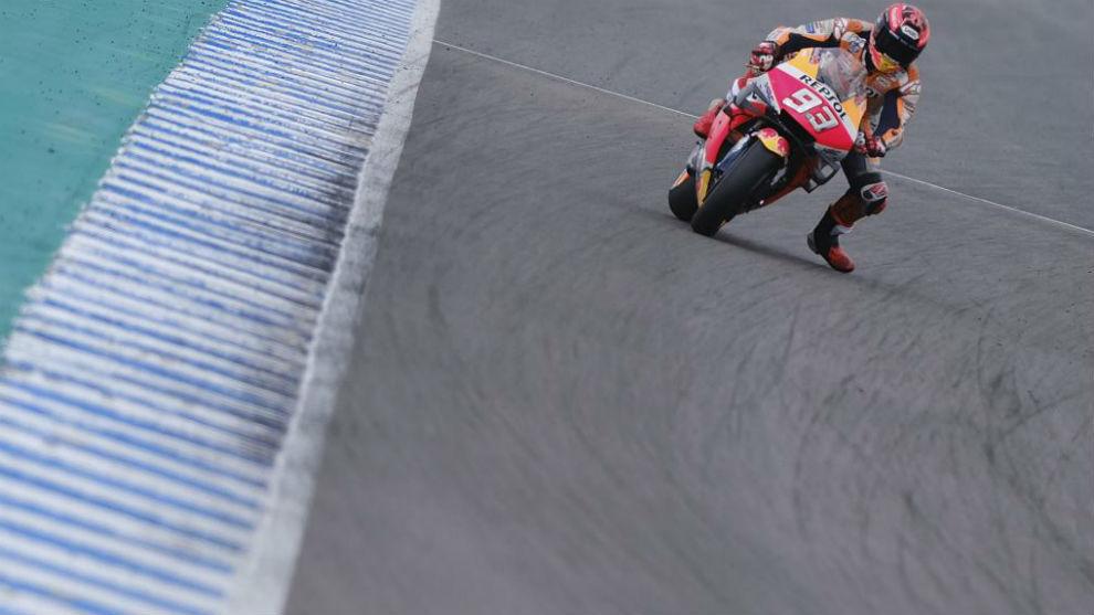 Marc Márquez, en el test de Jerez.
