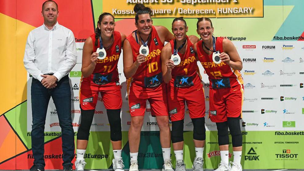 La selección española de 3x3 conquistó la plata en el Europeo de...