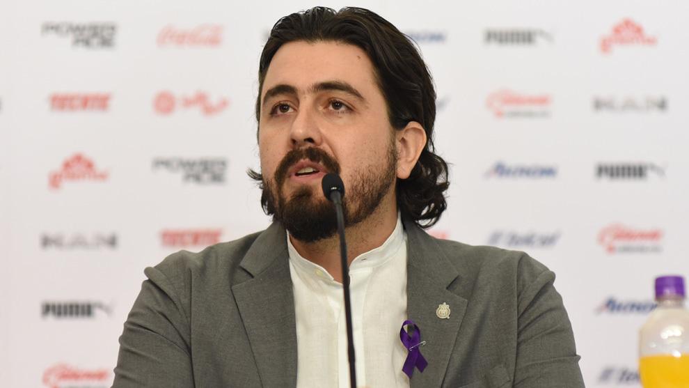 Amaury Vergara en conferencia de prensa