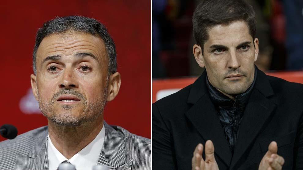 Luis Enrique y Robert Moreno.