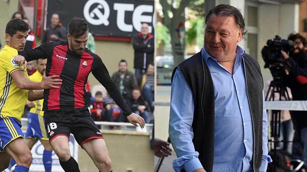 Pichu Atienza, en un partido con el Reus, y Agustín Lasaosa,  en una...