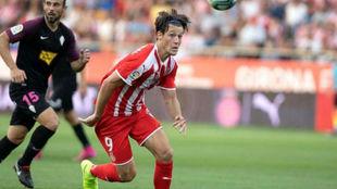 Marc Gual, en un partido del Girona de esta temporada