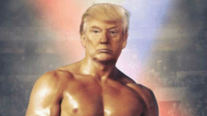 ¡Como Rocky Balboa! Trump muestra