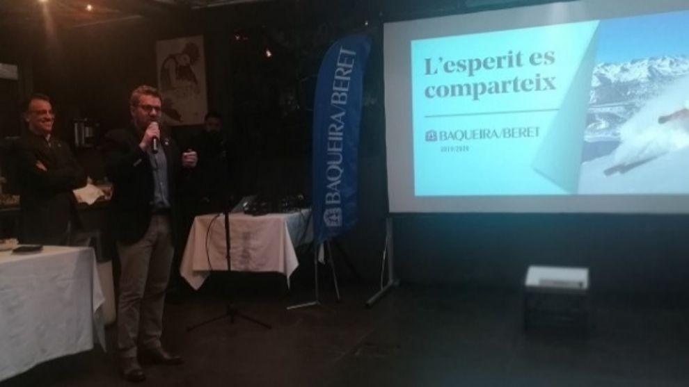 Xavi Ubeira, director comercial de Baquiera Beret, durante la...