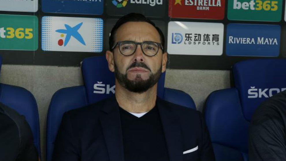 Bordalás en el encuentro ante el Espanyol