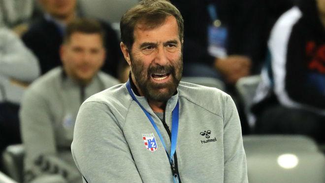 El afamado técnico montenegrino Veselin Vujovic con el RK Zagreb /