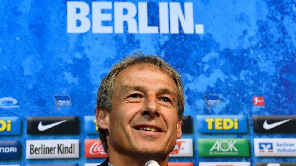 Jürgen Klinsmann (55), en su presentación con el Hertha.
