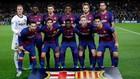 Once del Barcelona frente al Borussia Dormund.