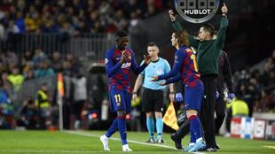 Dembélé se retira descalzo y casi entre lágrimas