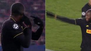 Los gestos de Lukaku.