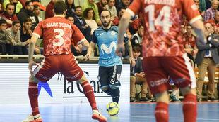 Ricardinho, durante el partido ante ElPozo Murcia.
