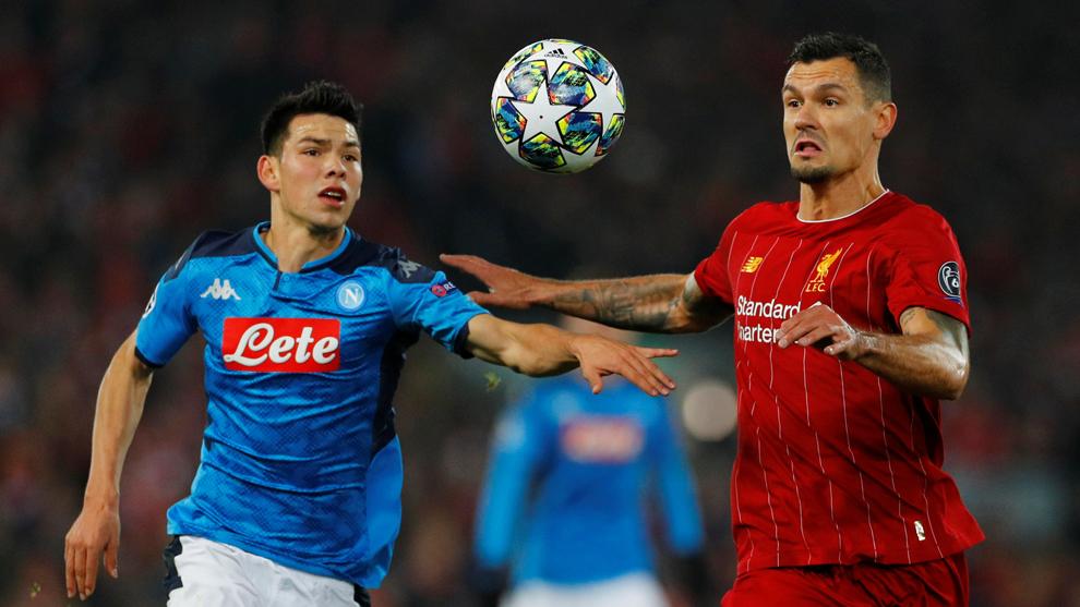 El Napoli del Chucky Lozano empata con el Liverpool en un partido ...