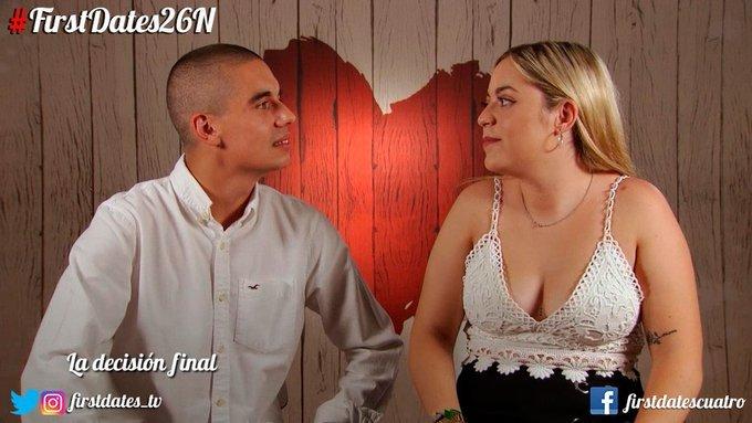 Raúl y Yohana durante su cita en First Dates de Cuatro... con un...