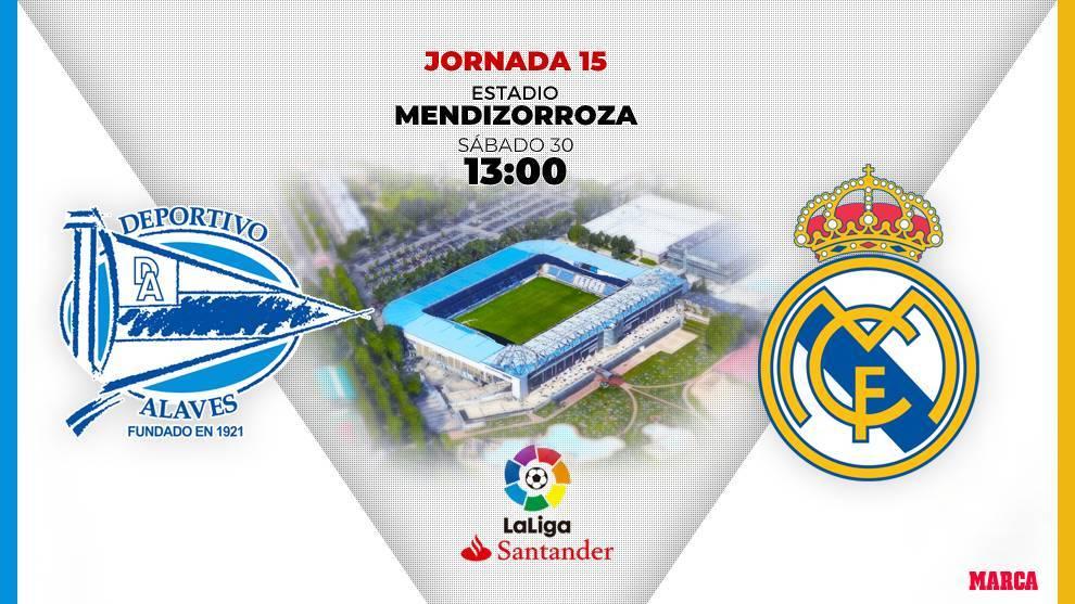 Alavés - Real Madrid: horario y dónde ver en television hoy el...