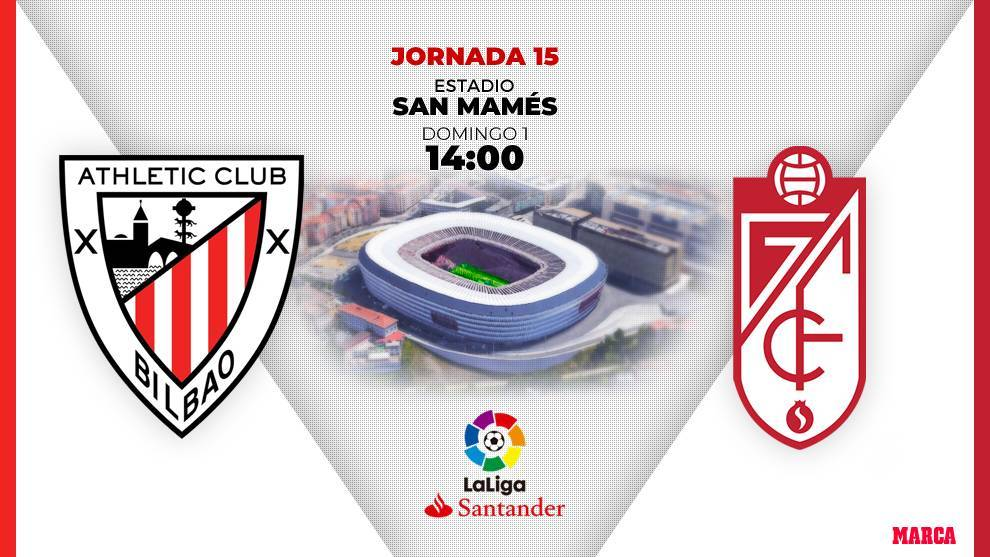Athletic - Granada: schedule and day