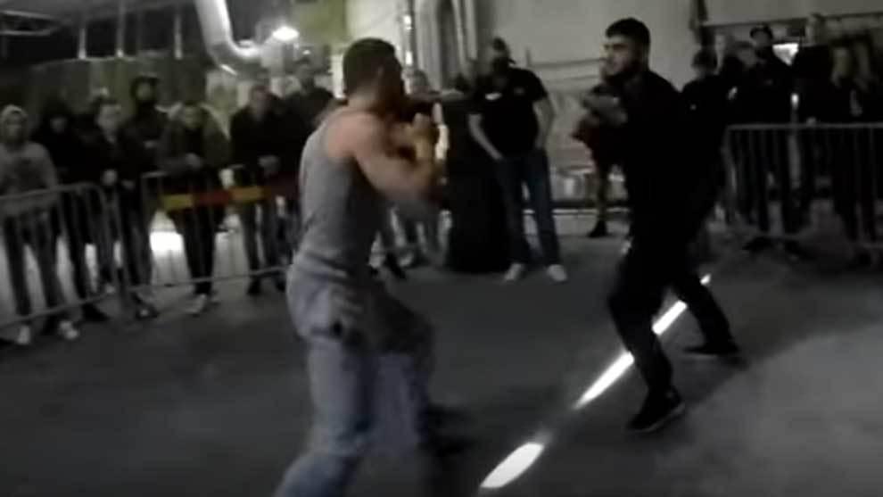 Espectacular enfrentamiento entre 4 asturianos y 1 Sanluqueño