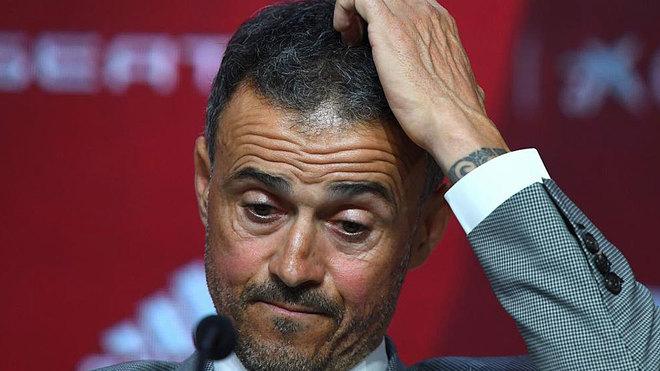 Luis Enrique, en la rueda de prensa que ofreció este miércoles.