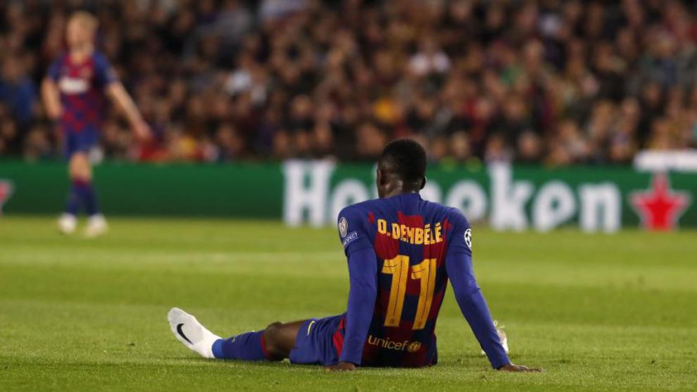 Ousmane Dembélé, lesionado contra el Borussia