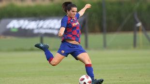 Andrea Pereira durante un partido esta temporada.