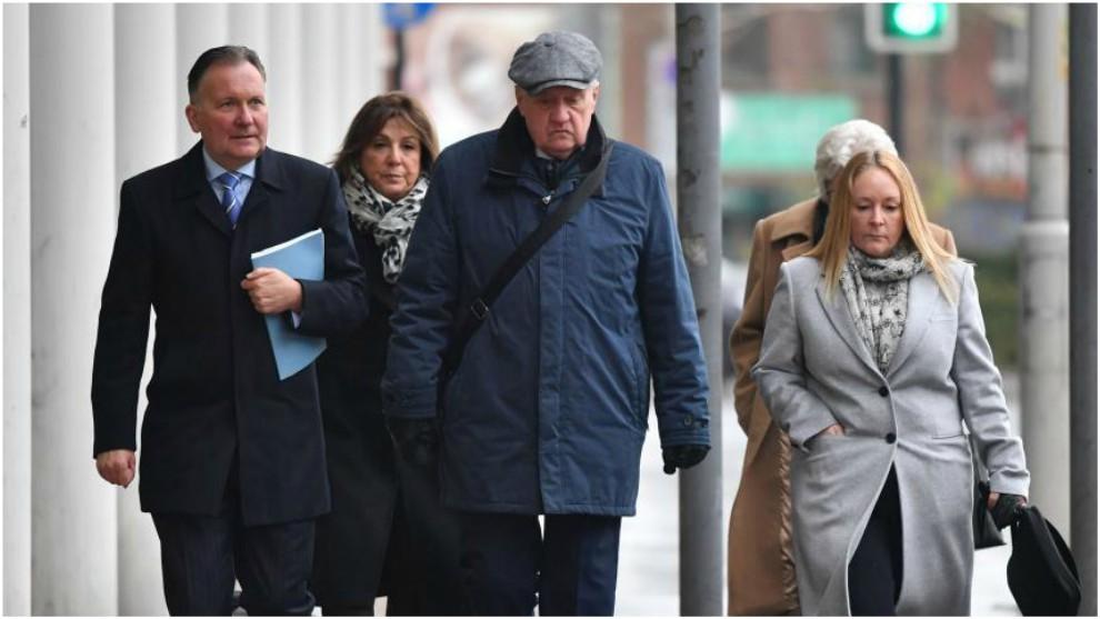 David Duckenfield, a su llegada al Tribunal de Preston.