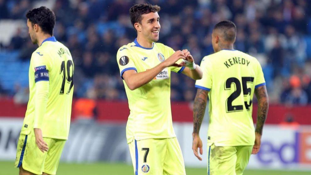 Mata celebra el gol al Trabzonspor.